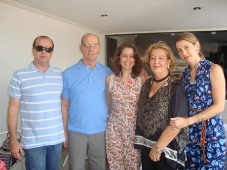 Ivan Filho, Ivan, Carol, Cidinha e Tricia Kruschewsky