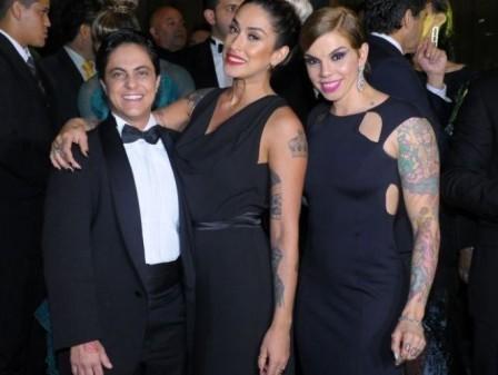 Thammy Miranda vai de smoking ao casamento de Val Marquiori em São Paulo
