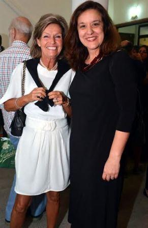 A Consul da Noruega Helle Klen e Luciana Rodrigues