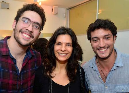 Gui Lopes, Helena Ranaldi e Alan Souza LIma