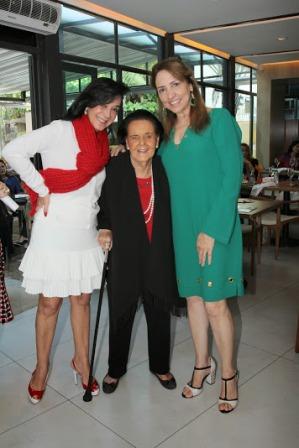 Vera Rudge entre Mônica Clark e Sumaya Neves