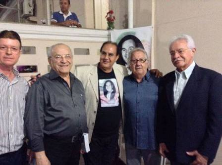 Miguel e Helio Dorea, José Francisco Brandão, Naron Vasconcelos e vice-prefeito Luciano Ribeiro