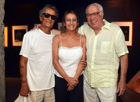 Nelson Xavier e o casal Denise e Jayme Del Cueto