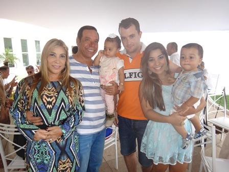Luci e Guto Silva com João e Renata Silva E seus filhos Alice e Benicio Lucas