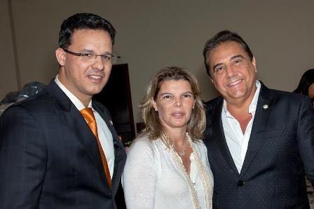 Ricardo Pereira, Cristiane e Eduardo Guinle