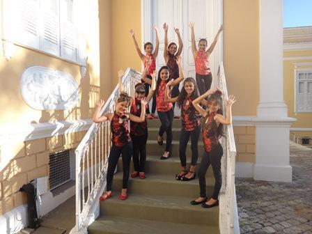 As candidatas ao Miss Feira Mirim no CUCA