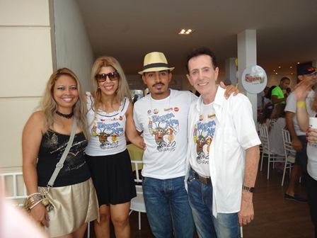 Yen Carneiro, Kika Larangeira, Fagner Brito e Pitombo