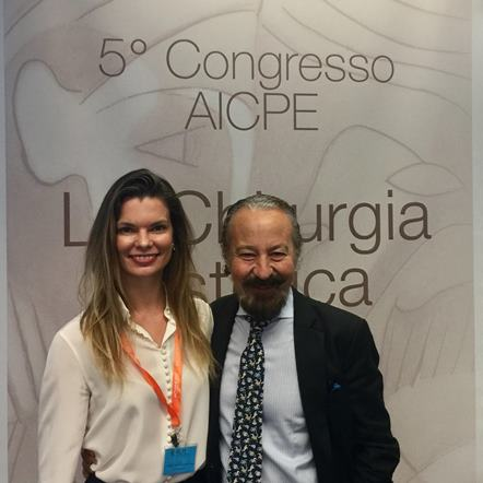 Dra. Palmyra Geissler e o organizador do congresso Dr Mario Pelle
