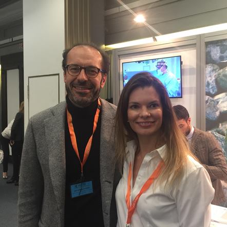 O napolitano Dr. Alfredo Borriolli e a cirugiã plástica brasileira Dra. Palmyra Geissler