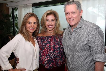 Ana Luiza Ginja, Katia Cohen e Roger Magalhaes