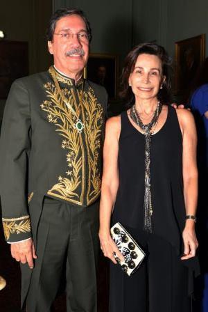 Merval Pereira e sua mulher Elza