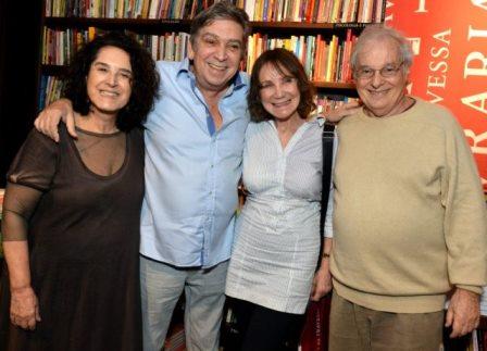 Olivia Hime, Guto Graça Mello, Sylvia Massari e Francis Hime