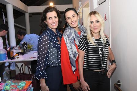 Flavia Manahu, Adriana Oliveira e Shirley Sobotka