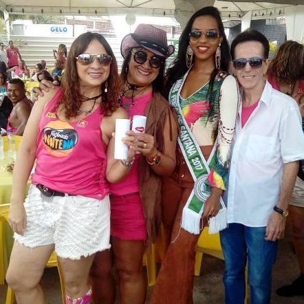 Graça Pires, Rose Cruz, Carolina Lima Silva e o Pitombo