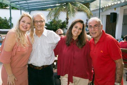 Luciana Habib, vice prefeito Fernando e sua esposa Angela Mc Dowell e Jorge Habib