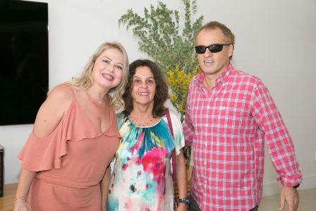 Luciana Habib, Helena Candido e Alexandre Belo