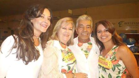 Ronna, Martine e João Veloso com Silvia Oliveira