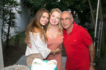 Thaciane, Luciana e Jorge Habib