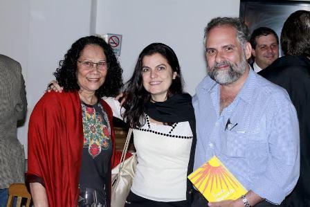 Tina Correia, Flávia Portela e Alexei Bueno.