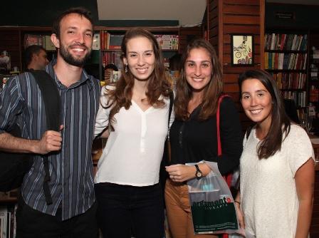 André Assunpção, Paula Braga, Gabriela Rodrigues e Roberta Lanzetta