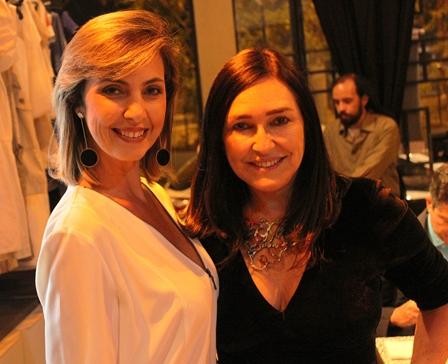 As amigas Beatriz Baltz e Cacau Dias no Clube do Jazz