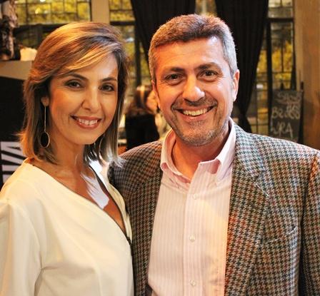 O casal Beatriz Baltz e Ricardo Barbosa no Clube do Jazz