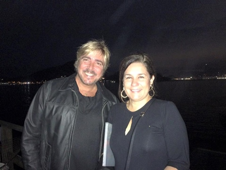 Pedro Gismondi e a artista plástica Paula Paes Leme no Sunset