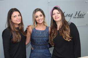Gabriela Mota entre as gestoras Andressa e Vanessa Torres