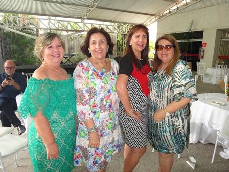 Celia Cerqueira, Denise Caribé Teixeira de Freitas, Ritinha Caribé Kruschewsky e Iara Maria Portugal Lima e Cruz