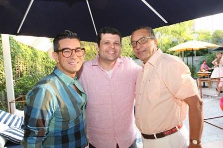 Marcelo Hicho, Carlos Lamoglia e  Amaro Leandro