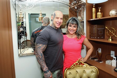 Tony Maciel e Jéssica Zarro