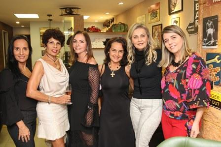 Valéria Peixoto, Leilane Castanheira, Nilga Chamoun, Bel Gasparian, Erise Villela e Ana Paula Bechara