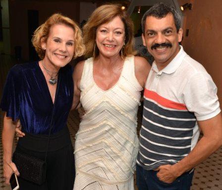 Andréa Veiga, Alcione Mazzeo e Alexandre Lino