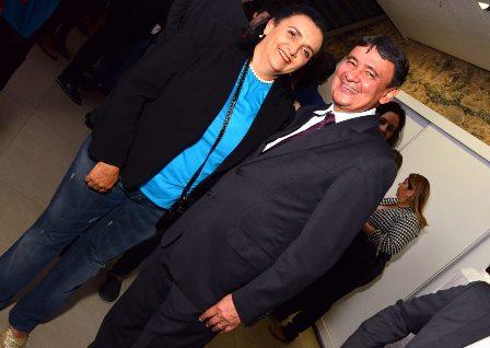 Girlei Oliveira e o Governador do Piauí Wellington Dias