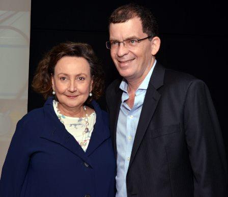 Dra. Margareth Dalcolmo e o diretor Marcos Schechtman