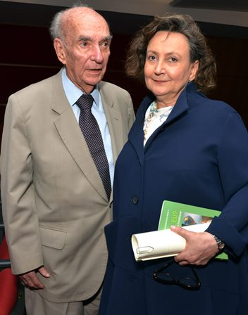 O casal  Dra Margareth Dalcolmo e  Cândido Mendes