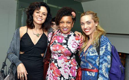 Andrêas Gatto , Elisa Lucinda e Julia Gorman
