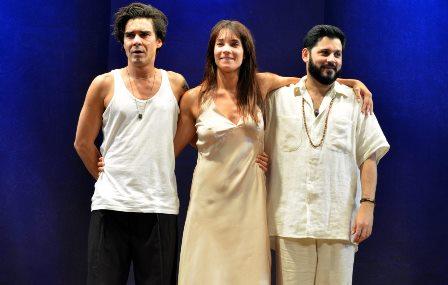 André Gonçalves , Amanda Lee e Rodolfo Mesquita