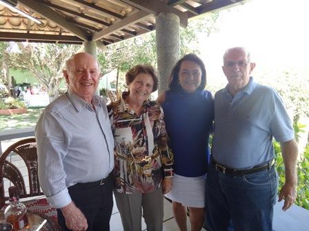 Dr. Jose Eduacy e Ligia Lins com Marinalva Rios e Luiz Silvane Sampaio