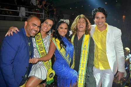 Fábio Campos Presidente, Amanda Souto Musa 2018,Marcillene Moraes Rainha 2018, Gabriel Bernardo Muso 2018 e Marcelo Haidar Presidente de Honra