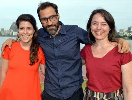 Mariana Oliva, Bruno Jorge e Renata Terra