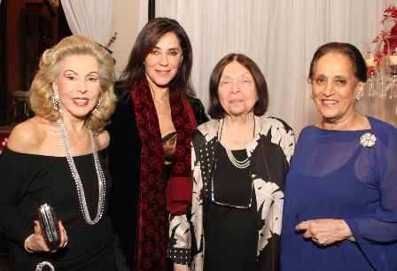 Mariza Coser, Christiane Torloni, Nelida Pinon e Belita Tamoyo