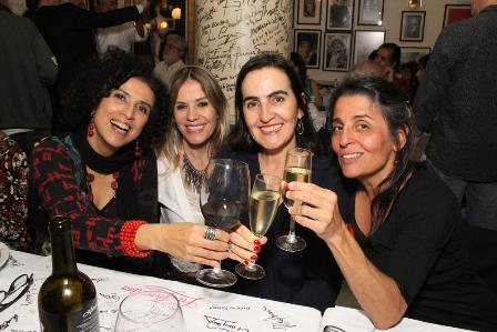 Paula, Morelenbaum, amiga, Paula Nazareth e Fabrizia Pinto