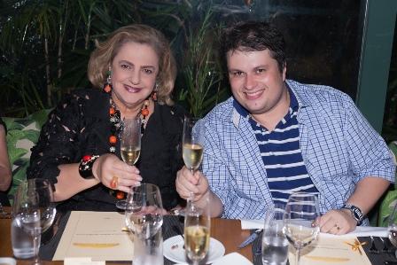 Cristina Aboim e Cláudio Castro