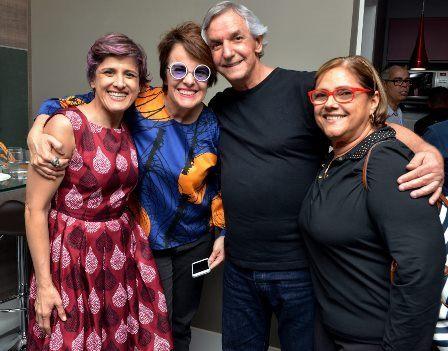 Cris Delanno , Leila Pinheiro , João Augusto e Monica Ramos