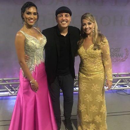 Miss Feira Carolina Lima o cantor Alex Gois e Mailin Carneiro Pedreira