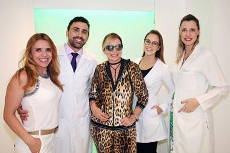 Nívea Bordin, Roberto Chacur, Nina Kauffmann, Flávia Weffort e Gina Matzenbacher