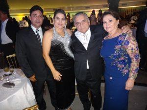 Alessandro e Alessandra Gomes  Bastos com Eunice e Guido Gomes