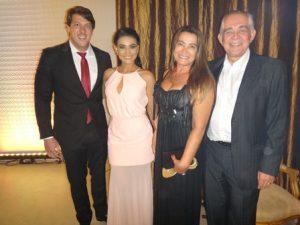 Alexandre e Roberta, Sonia e Florisberto Cerqueira