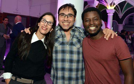 Karen Acioly , Leonardo Miranda e Horácio Guiamba